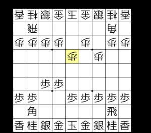 【図1-1 △5四歩として5筋に手を付ける】
