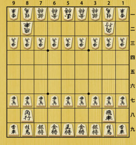 Shogi starting setup
