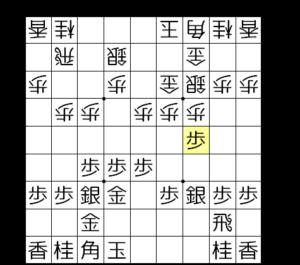 【図2-1 いきなり歩をぶつける】