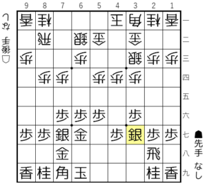 【図1-2 3七銀型に組む】