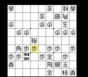 【図4-5 焦点の歩打ち】