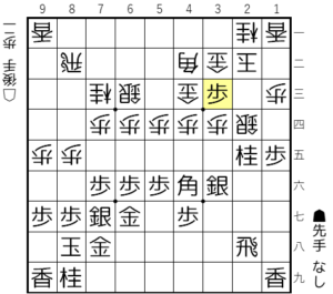 【図2-8 急所の歩打ち】