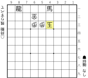 【失敗図は▲4一角成、△4三玉まで】