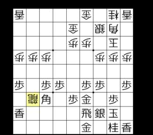 【図4-a お互いに端歩を突いている】