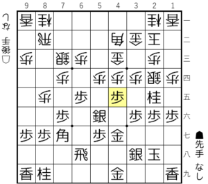 【図4-3 急所の歩突き】