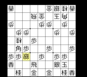 【図2-b △7七銀と打たれて激痛】