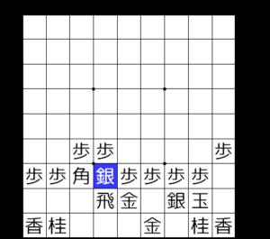 【図1-3 四間飛車6七銀型】