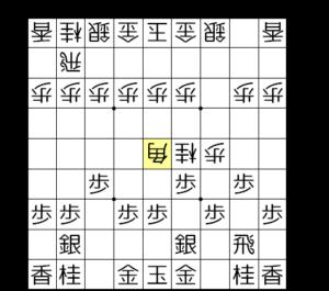 【図2-4 ▲5五角で銀歩両取り】
