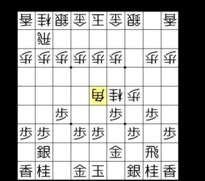 【図3-2 銀歩両取りの5五角】