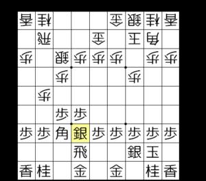 【図1-2 ▲6七銀型に組む】