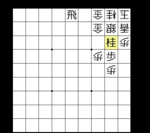 【図3-3 2三に桂馬を打ち込む】