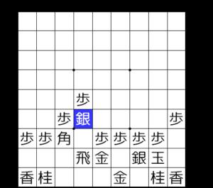 【図2-3 四間飛車6六銀型】