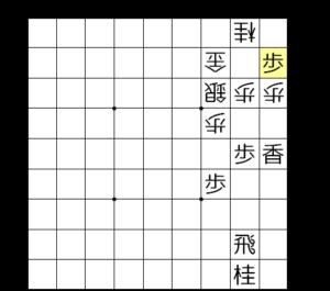 【図3-3 次に歩成を狙う垂らしの歩】