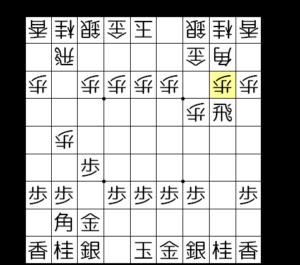 【図b-1 2三歩戦法】
