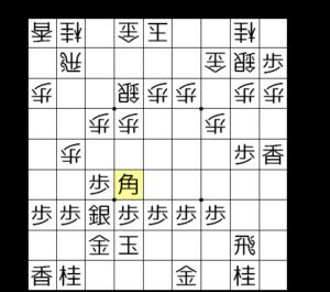 【図2-4 ▲6六角と打つのが定跡】
