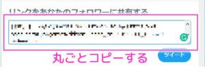 【ツイート文を丸ごとコピー】