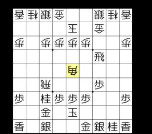 【図4-1 角交換から△5五角】
