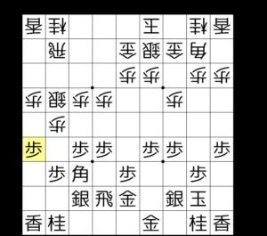 【図2-1 端歩を突き合う】