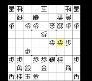 【図2-1 まずは歩を2枚付き捨てる】