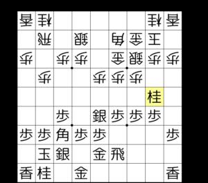 【図2-2 まずは▲2五桂】