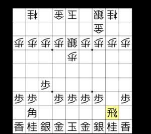 【図1‐3 飛車先の歩を交換する】