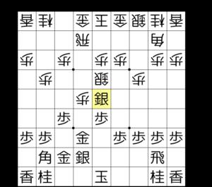 【図2-4 ▲5五銀と逃げる一手】