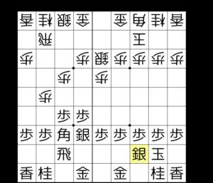 【図2-2 美濃囲いを急ぐ】