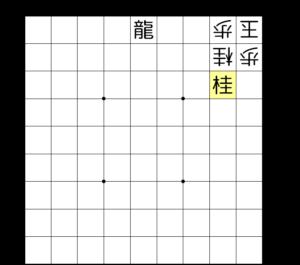 【図4-3 持ち駒の桂を使って3手詰め】