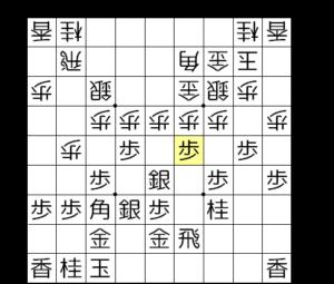 【図4-2 角道を開けて▲4五歩】