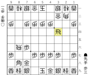 【図1-1 横歩取りの基本図】