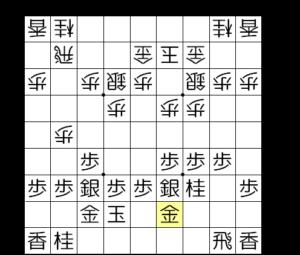 【図1-3 ▲4八金▲2九飛型に】