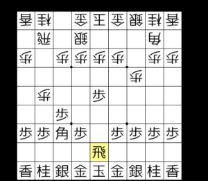 【図2-4 ゴキゲン中飛車の形と合流】