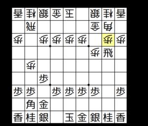 【図1-2 2三歩戦法の形に】