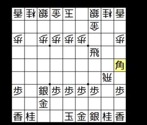 【図2-1 王手飛車で先手優勢】