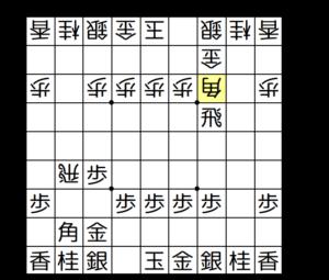 【図1-2 △3三角型空中戦法の形に】