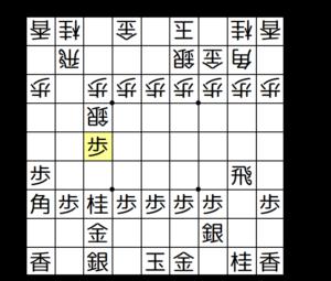 【図4-4 端角で銀を追い返す】