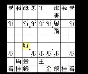 【図a-1 ▲5二玉と上がる青野流】