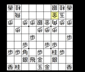 【図4-1 穴熊の形を保留】