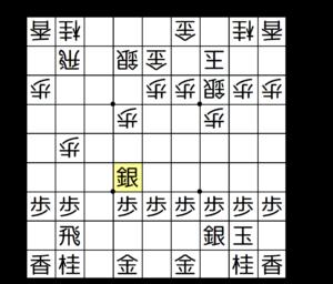 【図3-10 角を合わせてから銀を引く】