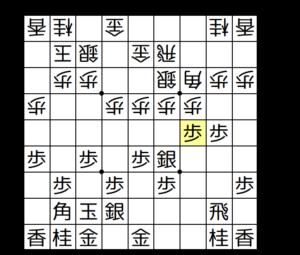 【図3-1 elmo囲い+斜め棒銀】