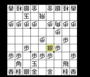 【図2-1 ▲3七銀~▲4六銀と上がる】