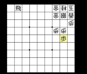 【図4-2 穴熊の頭に継ぎ歩!】